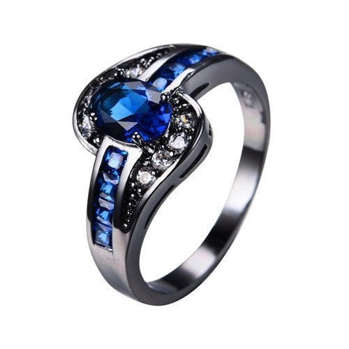 Completely new September Birthstone Sapphire Ring - BlazeMall TO46