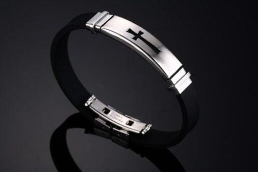 Premium Silicon Cross Of Christ Bracelet