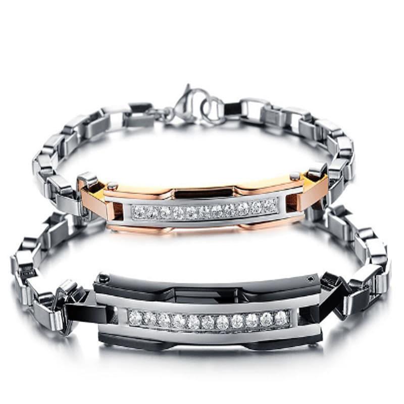 unique customized logo love couple bracelets blazemall